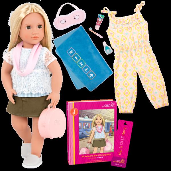 Deluxe 18-inch Train Travel Doll Joanie