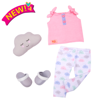 Cloudy Cuddles Outfit for 18-inch Dolls