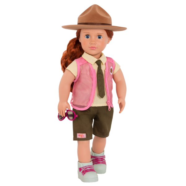 Park Ranger Flair Outfit for 18-inch Dolls with Aubrie and Accessories