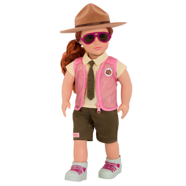 Park Ranger Flair Outfit for 18-inch Dolls with Aubrie and Sunglasses