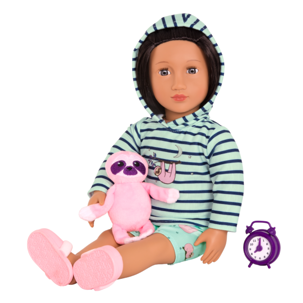 Deluxe Sleepy Sloth Outfit for 18-inch Dolls with Accessories