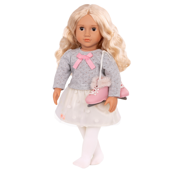 18-inch Ice Skating Doll Tess with Outfit