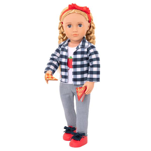 Head-To-Ma-Toes Outfit with Pizza Accessories for 18-inch Dolls