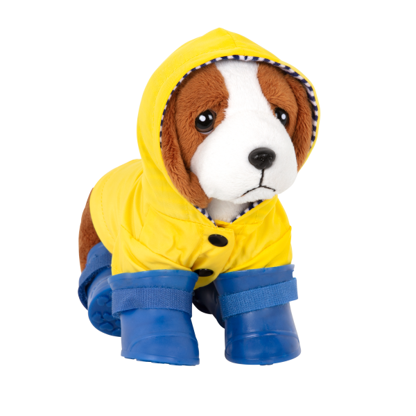 Paws N' Puddles Rainy Day Outfit Clothes Garment Accessories for 6-inch Plush Dogs Pets Loyal Pals