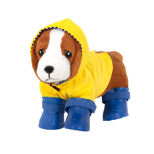 Paws N' Puddles Rainy Day Outfit Clothes for 6-inch Plush Dogs Pets