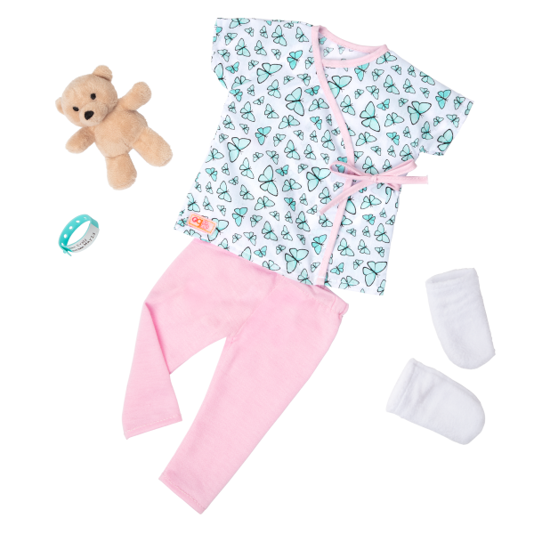 18-inch Hospital Doll Evely Blonde Outfit Clothes Medical Play