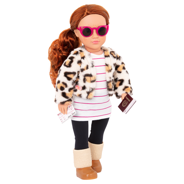 Travel Chic Fashion Outfit Clothes Accessories Coat Jacket for 18-inch Dolls