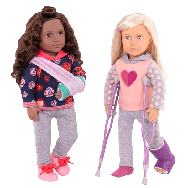 Martha Deluxe 18-inch Hospital Doll Keisha Posable Poseable