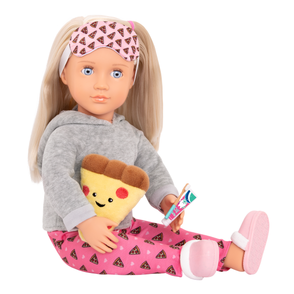 Deluxe Pizza Party Dreams Pajama Outfit Pink Clothes Accessories for 18-inch Dolls