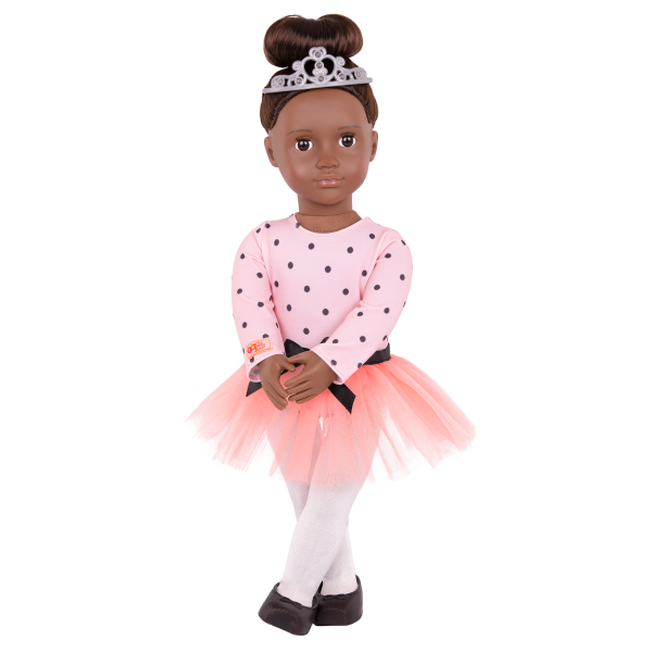 On Point Ballet Outfit Ballerina Clothes Tutu for 18-inch Dolls Pink Black Dance