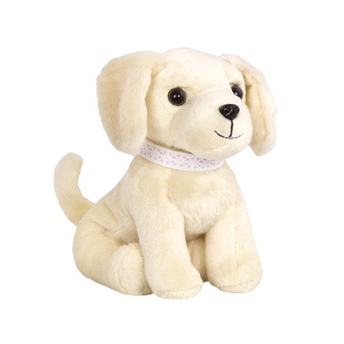 6-inch Posable Golden Retriever Pup Pets Plush Dog for 18-inch Dolls Loyal Pals