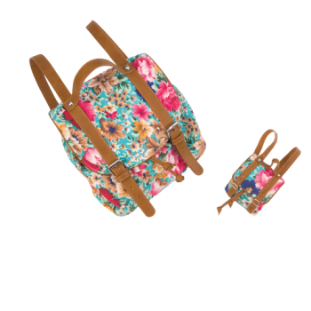 Me & You Floral Knapsacks for Kids & 18-inch Dolls