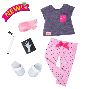 Healing in Pink Pajama Outfit for 18-inch Dolls