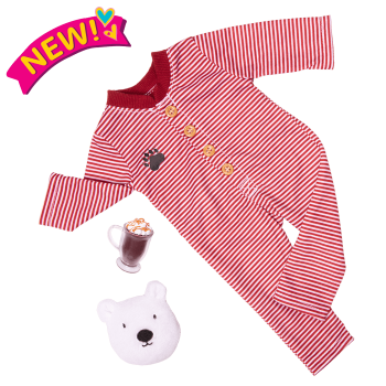 Bear-ly Tired Pajama Outfit for 18-inch Dolls