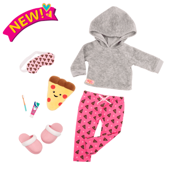 Deluxe Pizza Party Dreams Pajama Outfit for 18-inch Dolls