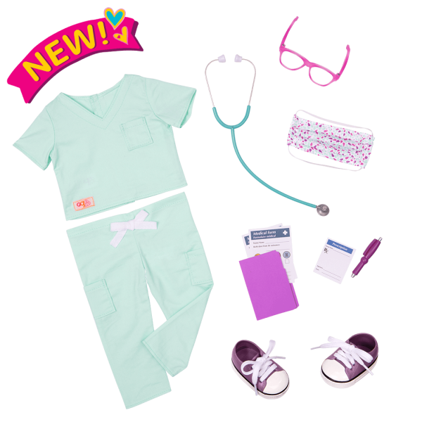 Deluxe Sweet Surgeon Outfit for 18-inch Dolls