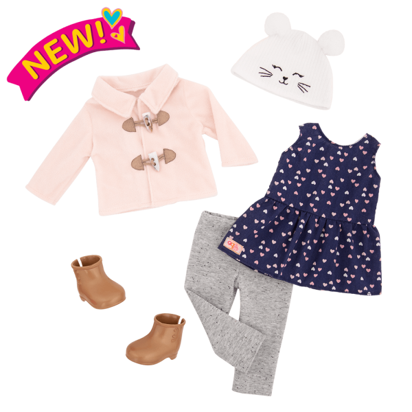 Deluxe Cheerfully Chilly Outfit for 18-inch Dolls