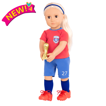 18-inch Soccer Player Doll Dina