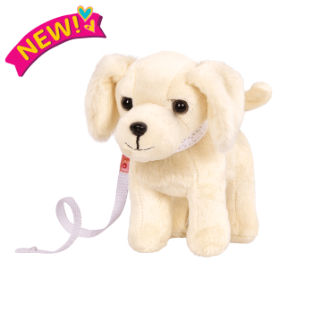 6-inch Posable Golden Retriever Pup for 18-inch Dolls