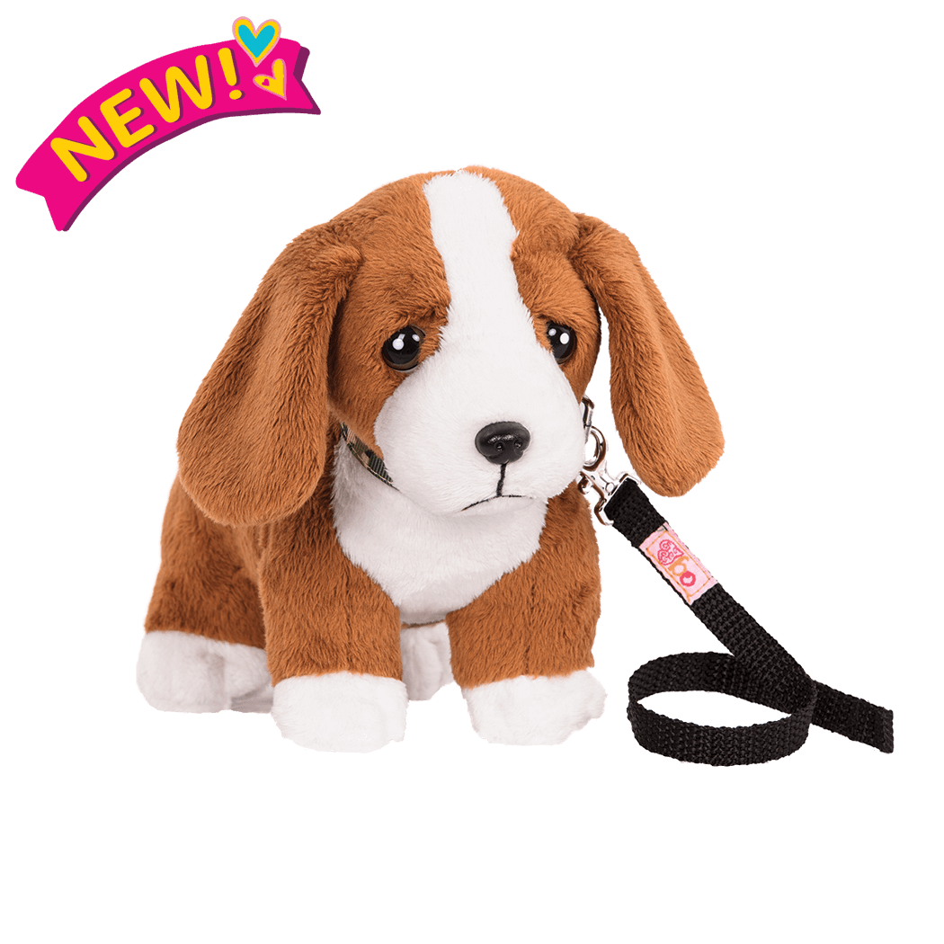 6-inch Posable Basset Hound Pup for 18-inch Dolls