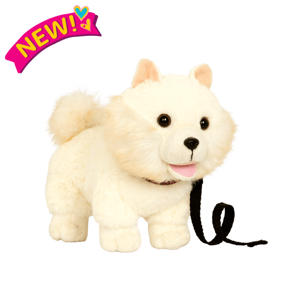 6-inch Posable Pomeranian Pup for 18-inch Dolls