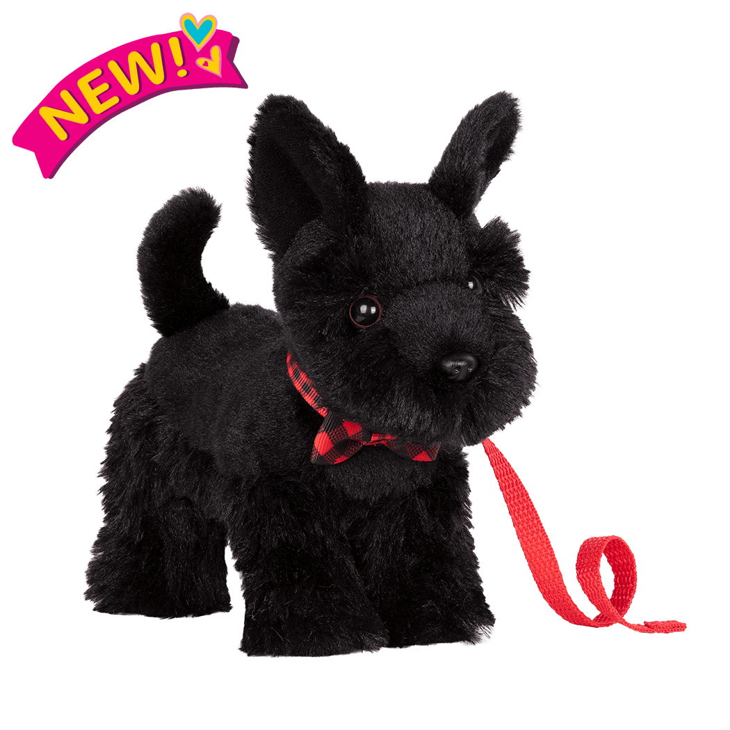 6-inch Posable Scottish Terrier Pup for 18-inch Dolls