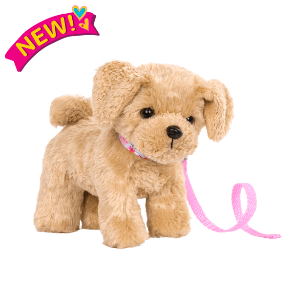 6-inch Posable Golden Poodle Pup for 18-inch Dolls