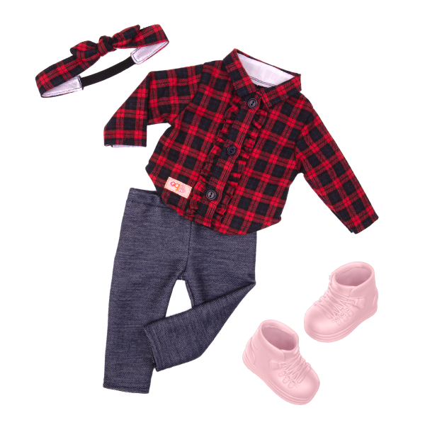 Our Generation 18-inch Doll Spencer Holiday Outfit Pink Boots
