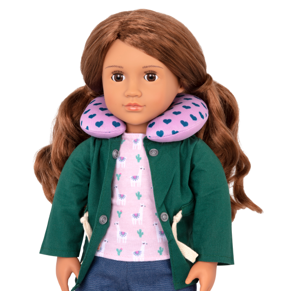 18-inch Doll Off We Go Travel & Luggage Set Neck Pillow Accessory