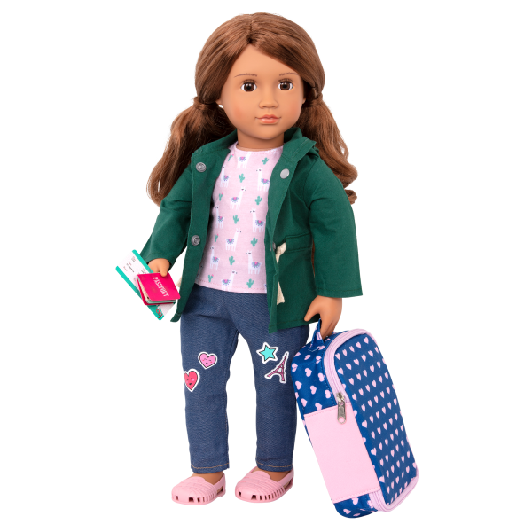 18-inch Doll Off We Go Travel & Luggage Pretend Play Set