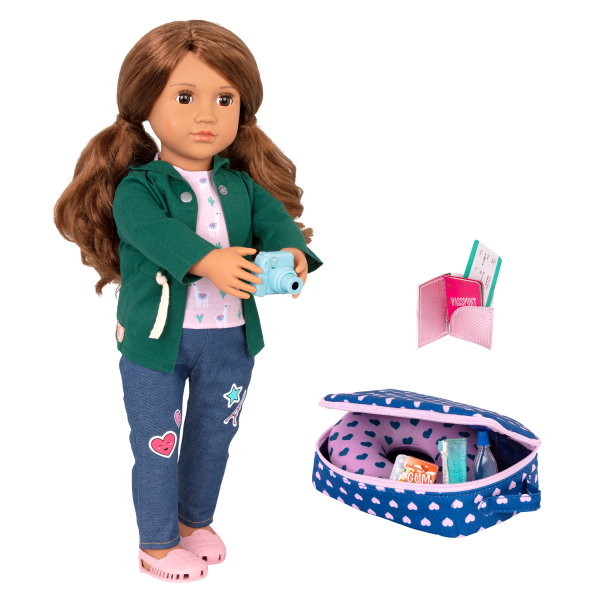 18-inch Doll Off We Go Luggage Accessories