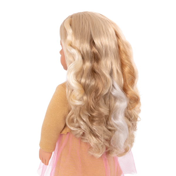 18-inch Doll Bianca with Hair Extension Clip-Ins