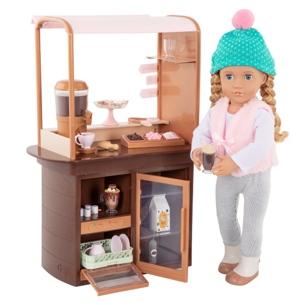 Choco-Tastic Hot Chocolate Stand for 18-inch Dolls Holiday Play Food Set
