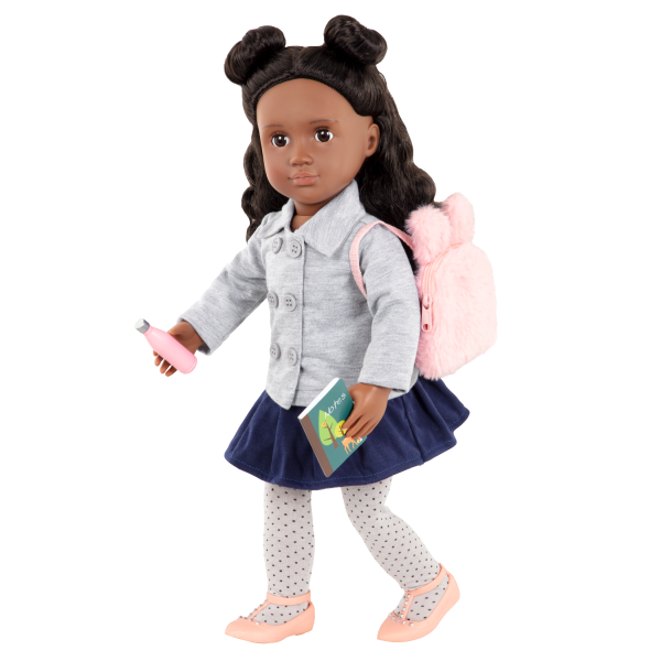 Bright & Learning School Accessories Pink Backpack for 18-inch Dolls