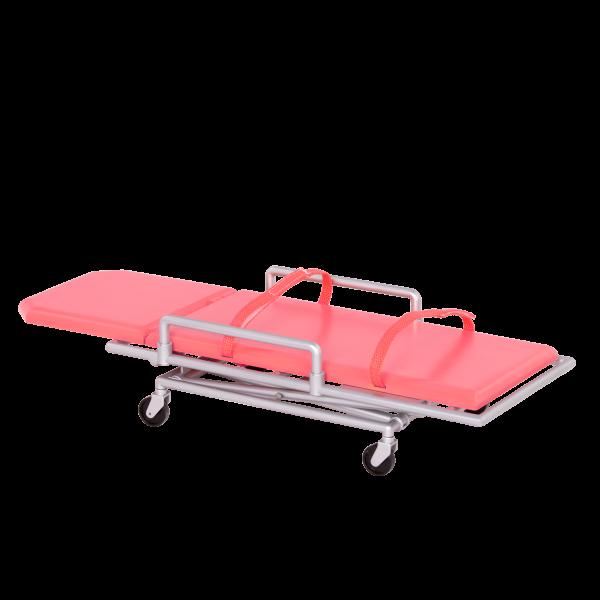 OG Medi-Care Foldable Pink Gurney Stretcher 18-inch Dolls