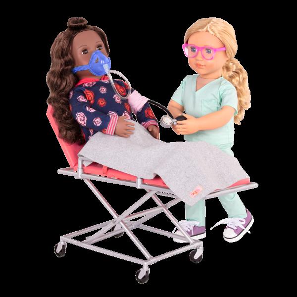 OG Medi-Care Adjustable Ambulance Gurney Stretcher 18-inch Dolls