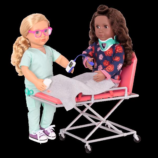 OG Medi-Care Ambulance Gurney Medical Play 18-inch Dolls
