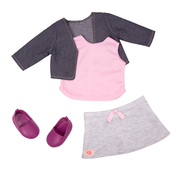 18-inch Doll Travel Outfit Jacket Skirt