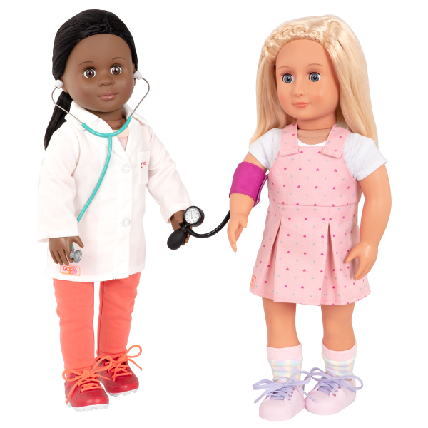 Healthy Check-Up Doctor Set for 18-inch Dolls Meagann Naty Medical Play