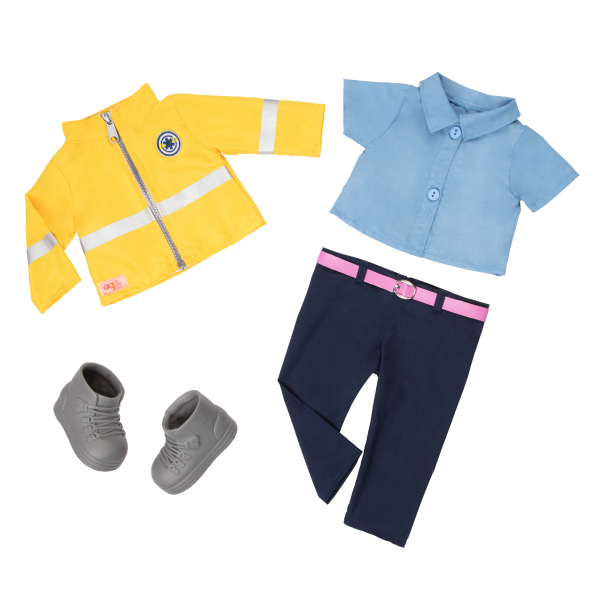 18-inch Paramedic Doll Clothes Jacket Top Pants