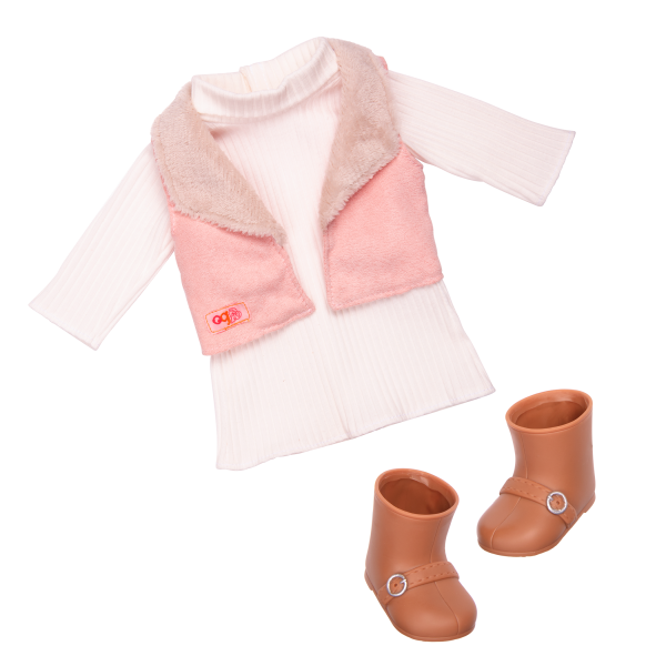 18-inch Doll Kinzie Outfit Vest Dress Clothes