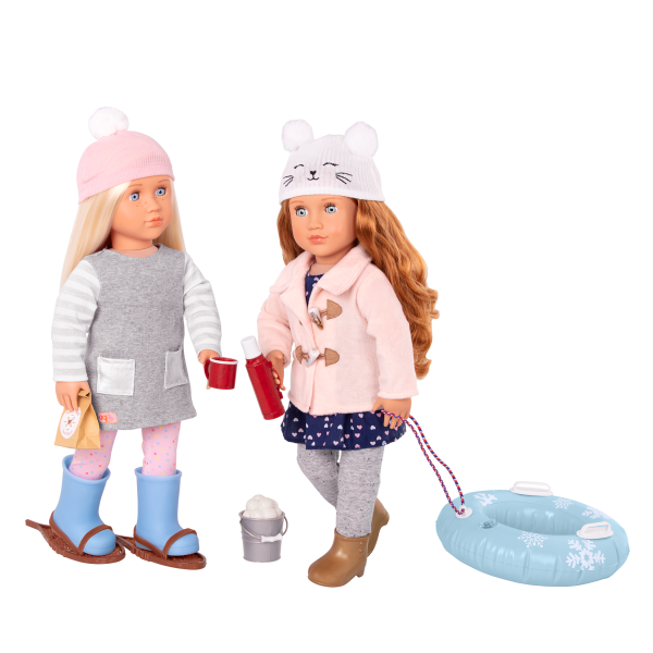 Out In The Snow Sled Accessories for 18-inch Dolls Meagan