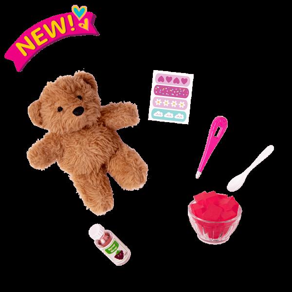Snuggle & Snuffle Teddy Bear Set for 18-inch Dolls