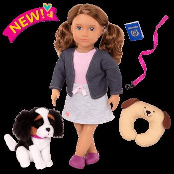 18-inch Doll and Pet Set Maddie & Plush Dog