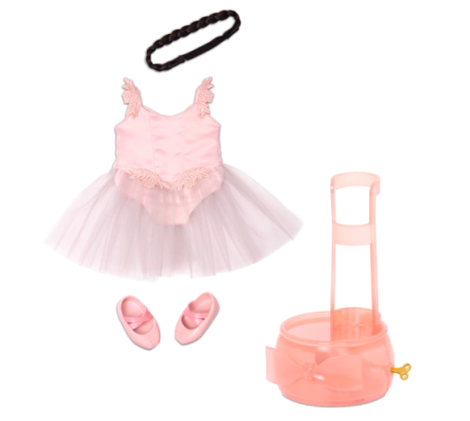 18-inch Ballet Doll Clothes Pink Dress