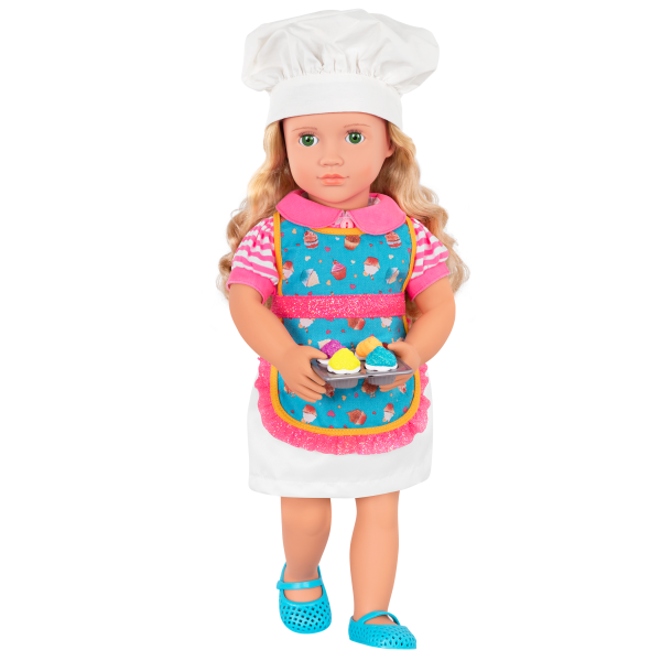 Deluxe 18-inch Jenny Doll Baking and cooking
