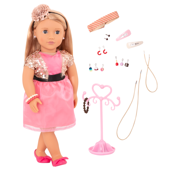 Audra 18-inch Jewelry Doll with Earrings