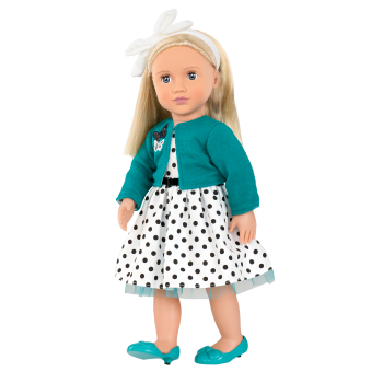 Ruby Retro 18-inch Doll with Polka Dot Dress