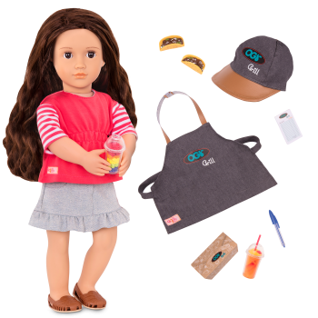 Rayna Deluxe 18-inch Food Truck Doll all components