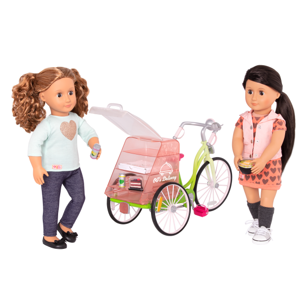 OG Delivery Bike for 18-inch Dolls with Isa and Lili